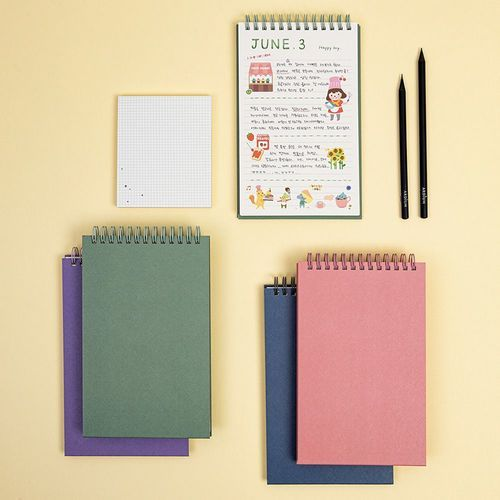 Large Colorful Spiral Notebook