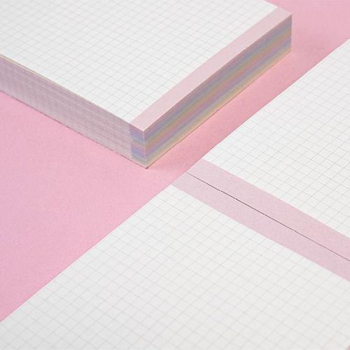 Pastel Rainbow Grid Memo Pad