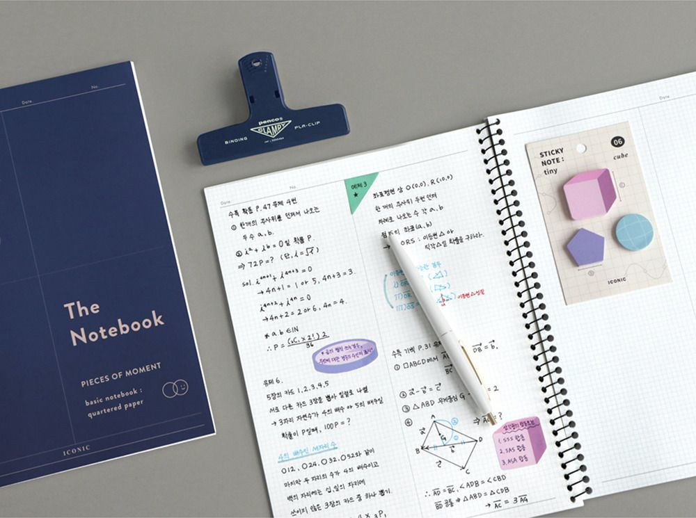 Pieces of Moment Math Notebook