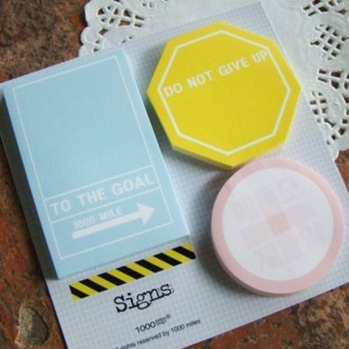 Signs Sticky Note Set