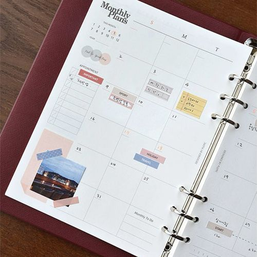 Classy 6 Ring A5 Planner Refill