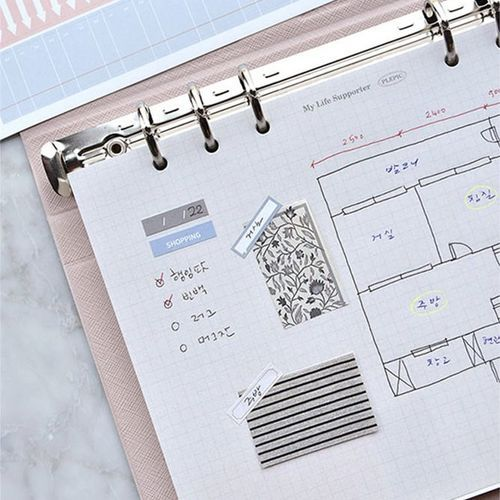 Classy 6 Ring A5 Index Planner Refill