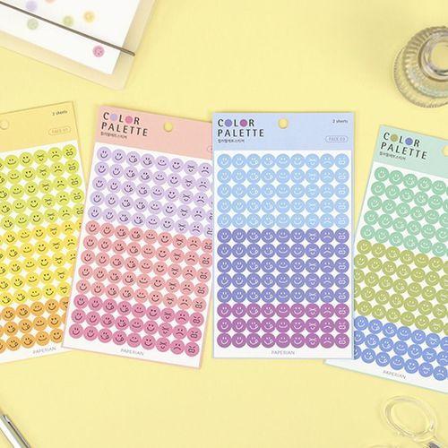 Face Color Palette Sticker
