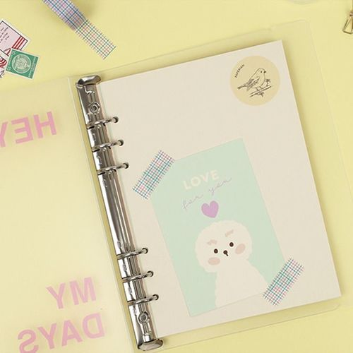 Colorful 6 Ring A5 Cover Paper Refill