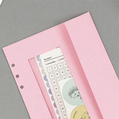Pastel 6 Ring A5 Window Envelope