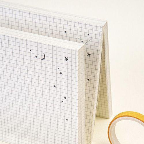 Starlight Grid Memo Pad