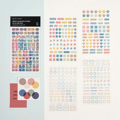Ardium Color Deco Sticker Set