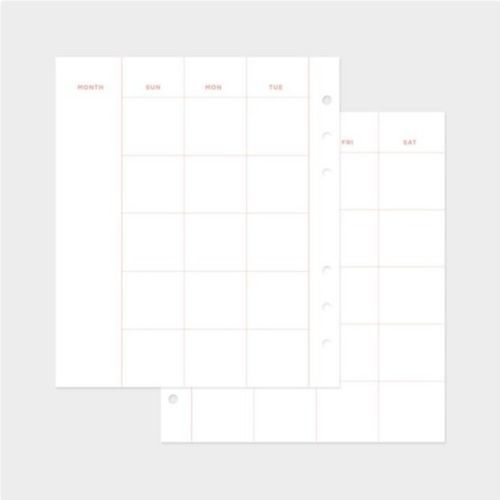 Monthly Plan 6 Ring A6 Wide Refill