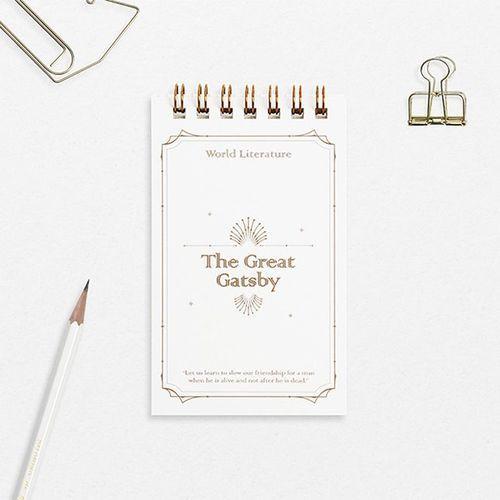 Mini World Literature Grid Notebook