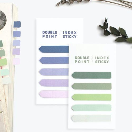 Gradient Double Point Index Sticky Note