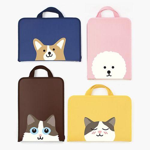 Reading Pet Zip Closure Document Bag