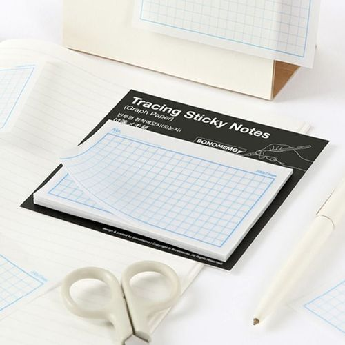 Graph Paper Tracing Sticky Note