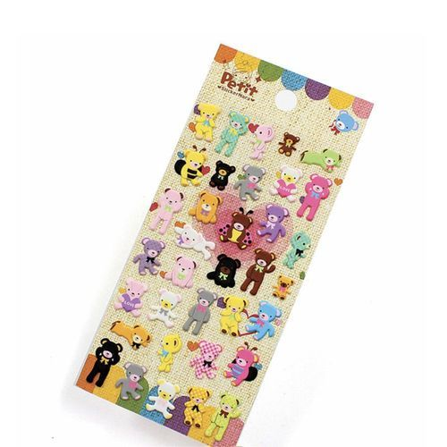 Colorful Teddy Bear Sticker