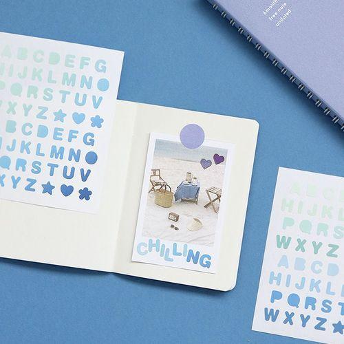 Gradient Number & Alphabet Sticker