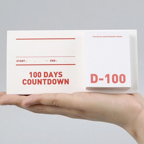100 Days Countdown Standing Sticky Note