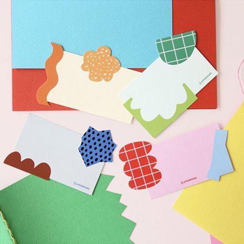 Colorful Piece Message Card Set