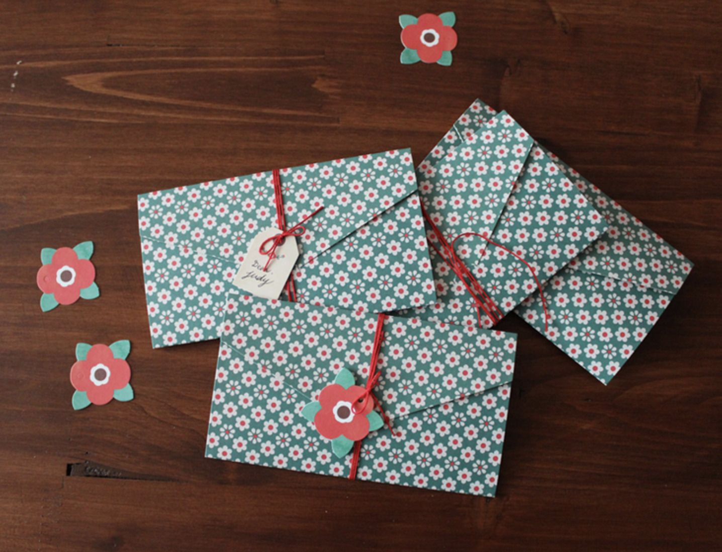 Pattern Lettered Envelope Card