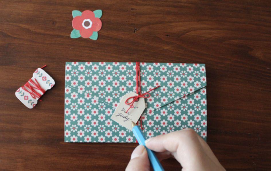Pattern Lettered Envelope Card