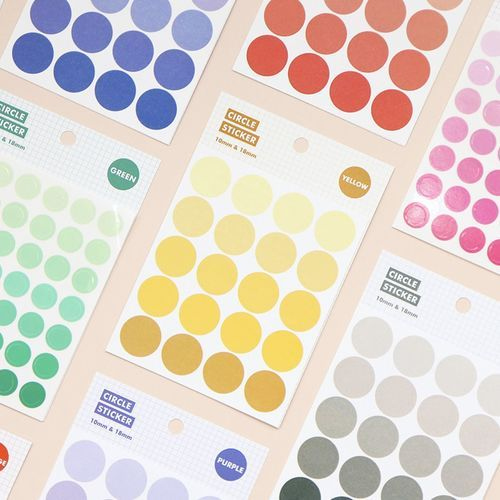 Gradient Circle Sticker Set