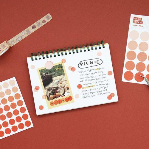 Gradient Circle Sticker Set