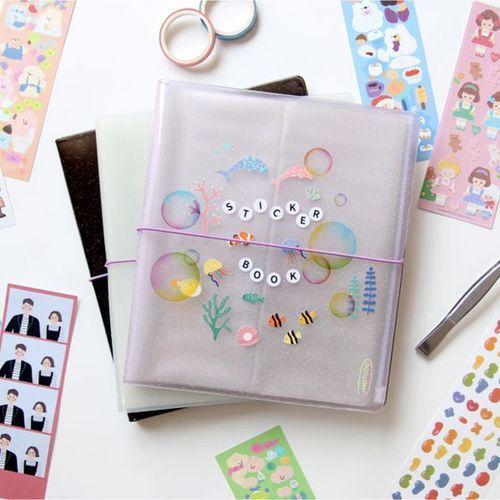 Glitter Slim Sticker Pocket Book