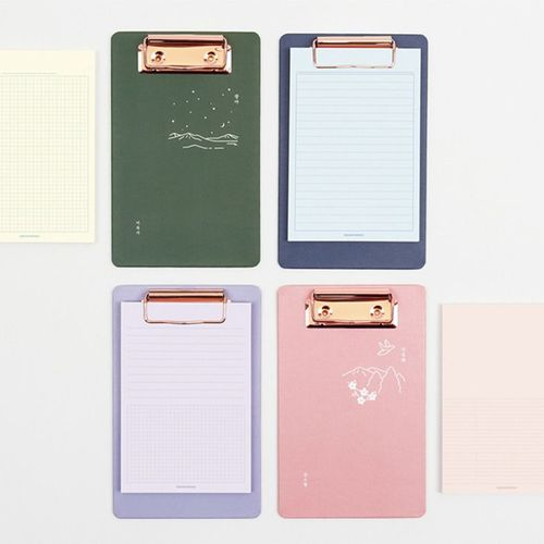 Pastel A6 Memo Pad & Clipboard Set