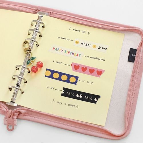 Pastel 6 Ring A6 Wide Note Refill