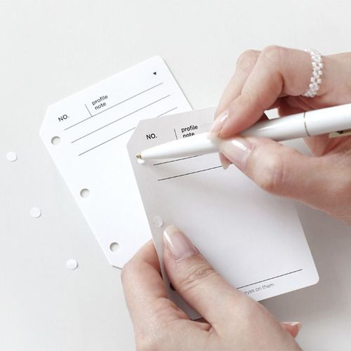 Mini Glitter 3 Ring PVC Binder Profile Note Refill