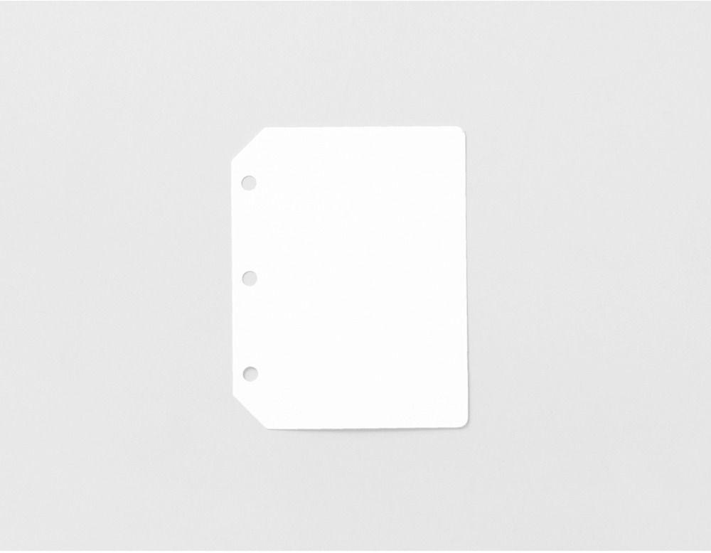 Mini Glitter 3 Ring PVC Binder Plain Note Refill