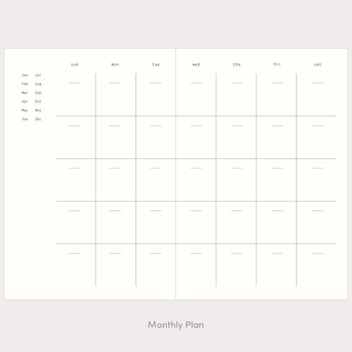 Bookcloth Essay Weekly Planner