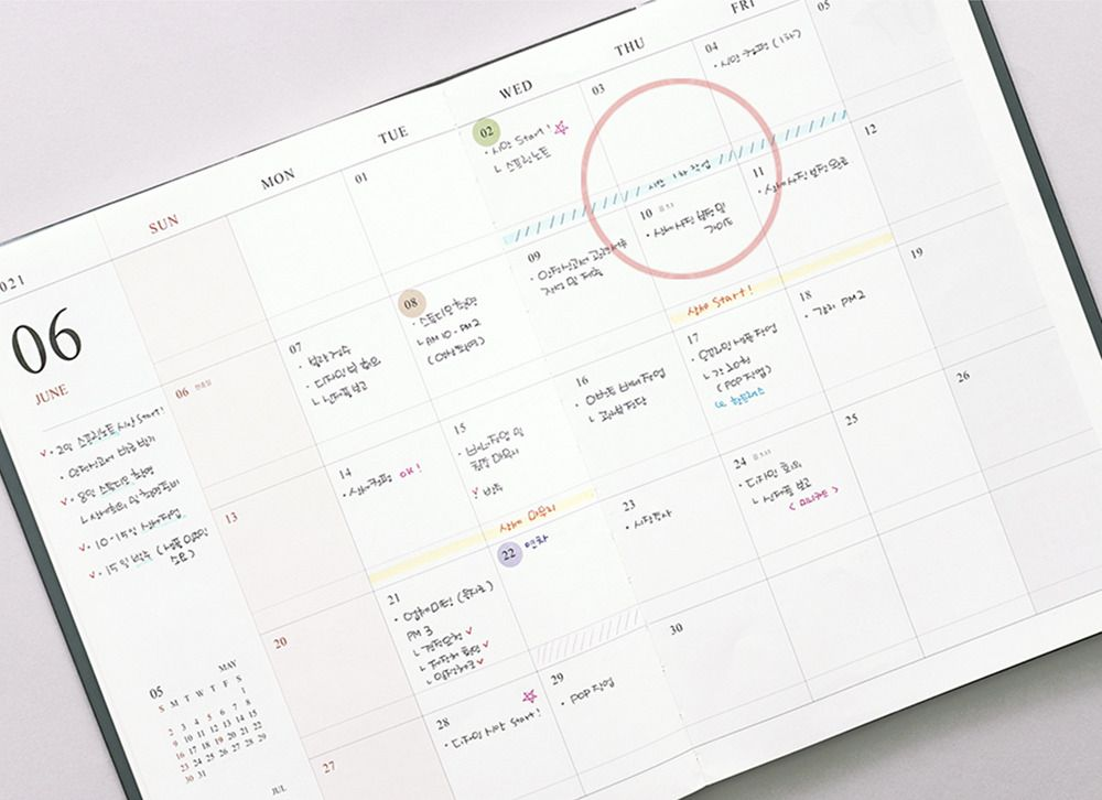 2021 Big Official Monthly Scheduler
