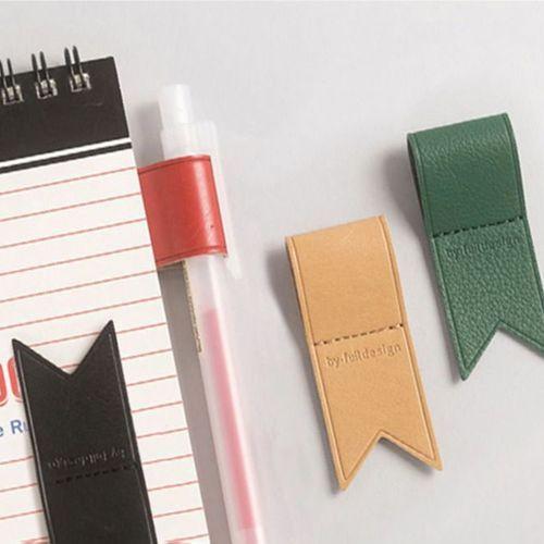 Vegan Leather Pen Holder