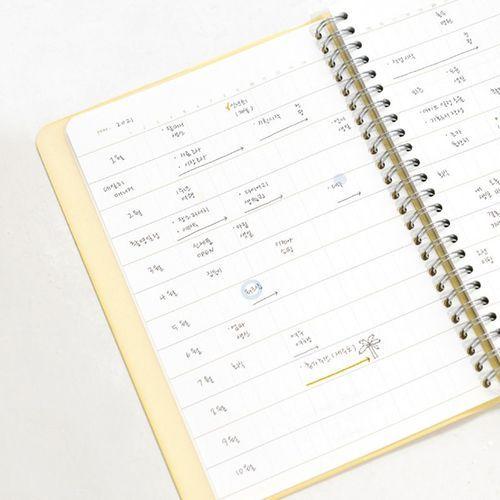 Semi Year Daily Spiral Journal
