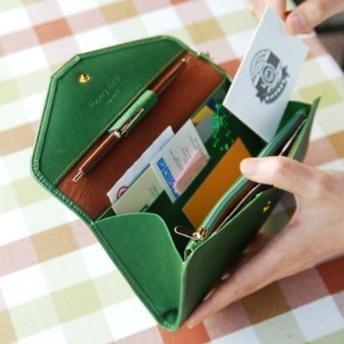 All-in-One Leather Clutch
