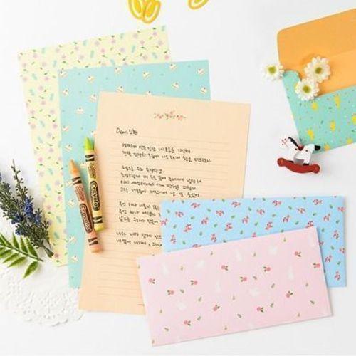 Pastel Floral Letter Set