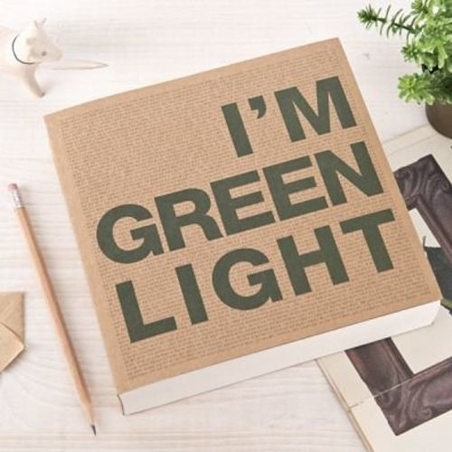 I'm Green Light Lined Notebook