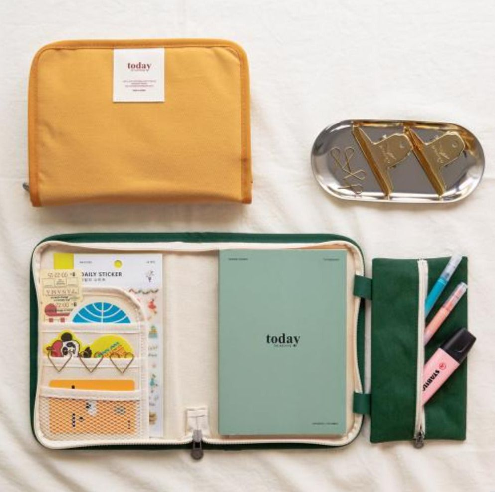 Canvas Today Pouch + Weekly Planner Set