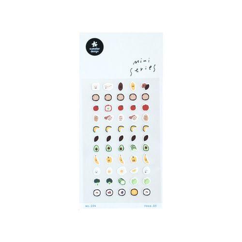 Mini Food Deco Sticker v3