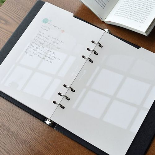 Double-sided Classy 6 Ring A5 Index Planner Refill