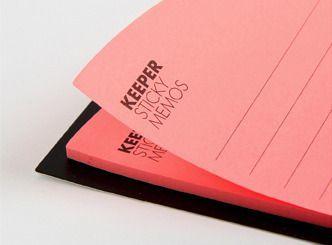 Pink Corner Pocket Sticky Note