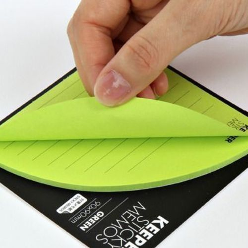 Green Corner Pocket Sticky Note