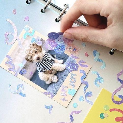Confetti Hologram Deco Sticker