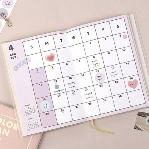 2021 Color Plan Weekly Scheduler
