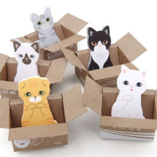 Mini Kitty Box House Sticky Note Set