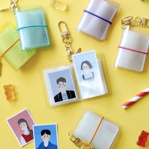 Extra Mini Photo Album Key Ring