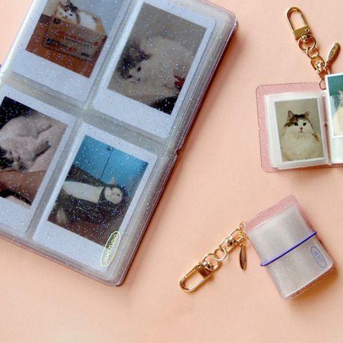 Extra Mini Photo Album Key Ring