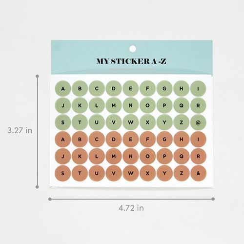 My A to Z Deco Sticker