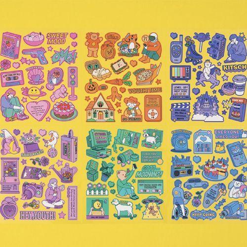 Color Point Deco Sticker v5