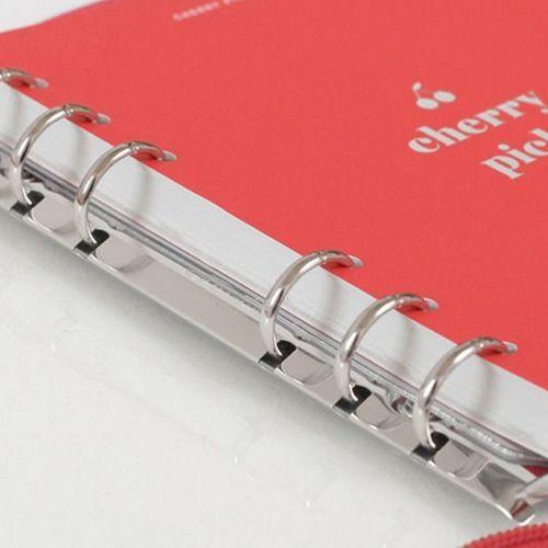 Milky Cherry Pick 6 Ring A6 Wide Zipper Planner