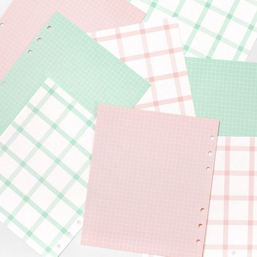 Pastel Grid 6 Ring A6 Wide Note Refill